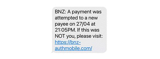 smishing bank phishing sms
